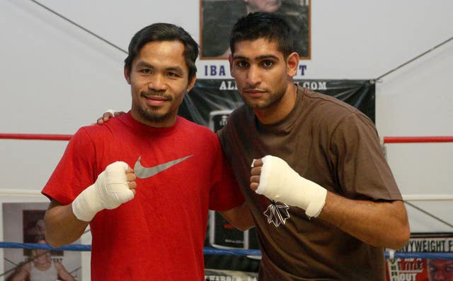 Pacquiao and Khan have sparred together in the past.