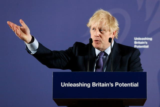 Boris Johnson set out the UK position at the Old Royal Naval College Greenwich, London