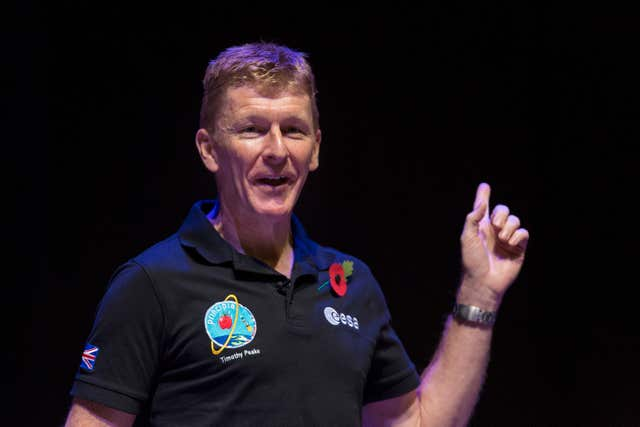 Tim Peake at UK Space Agency Schools Conference