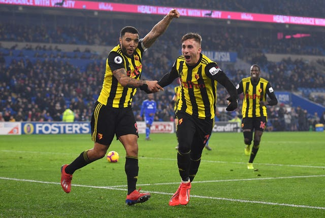 Watford forwards Troy Deeney and Gerard Deulofeu will be out to prevent Manchester City from adding the FA Cup to their growing trophy haul