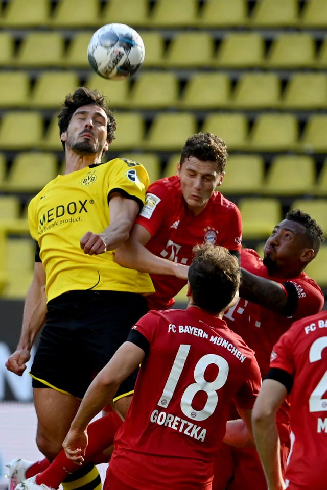 Mats Hummels was on the losing side against former club Bayern Munich