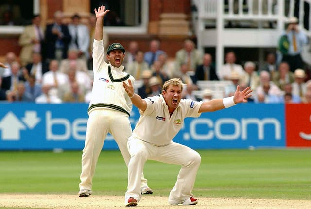 Warne, right, was named Wisden Leading Cricketer in the World in 2004