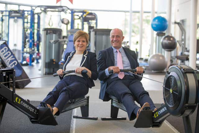 Stewart Harris, right, is the chief executive of sportscotland