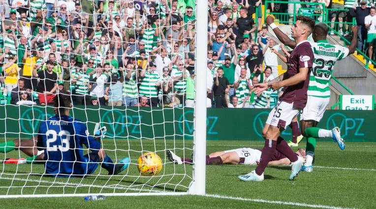 Bayo wrapped up Celtic's win with his second goal of the game at Parkhead
