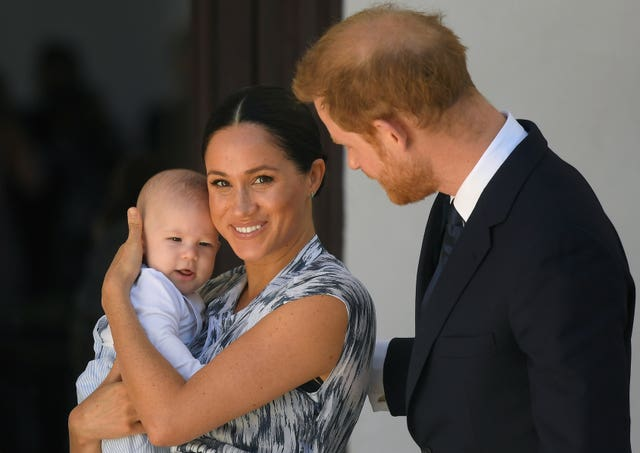 The Duke and Duchess of Sussex with their first son Archie in 2019