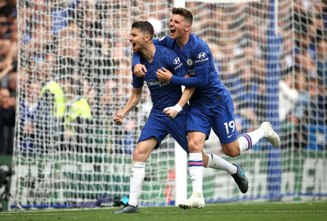 Jorginho, left, was on penalty duties for Chelsea