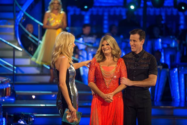 Tess Daly (left) with Susannah Constantine and Anton Du Beke