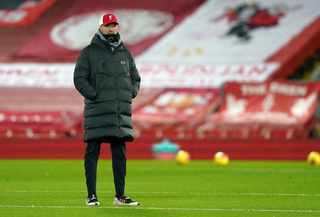 Liverpool manager Jurgen Klopp will be keen to return to winning ways against Manchester United.