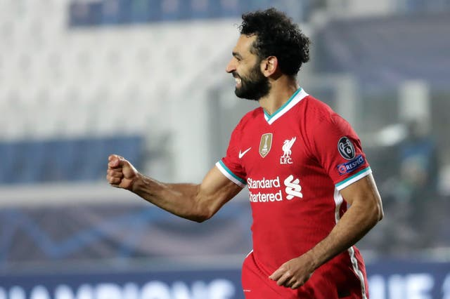 Mohamed Salah's goal against Atalanta put him level with Steven Gerrard on 21 Champions League goals for the club