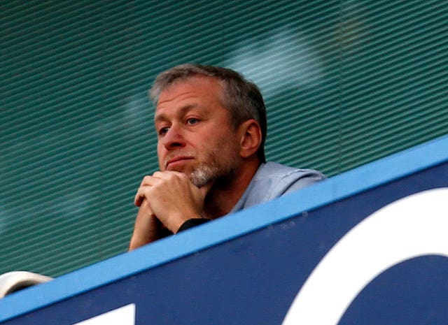Chelsea owner Roman Abramovich, seen here at Stamford Bridge, was in attendance on Wednesday