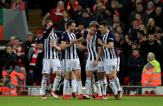Liverpool v West Bromwich Albion – Emirates FA Cup – Fourth Round – Anfield
