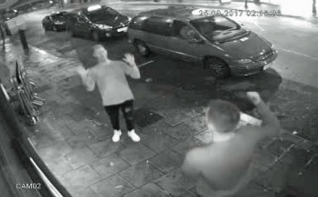 CCTV footage outside the nightclub