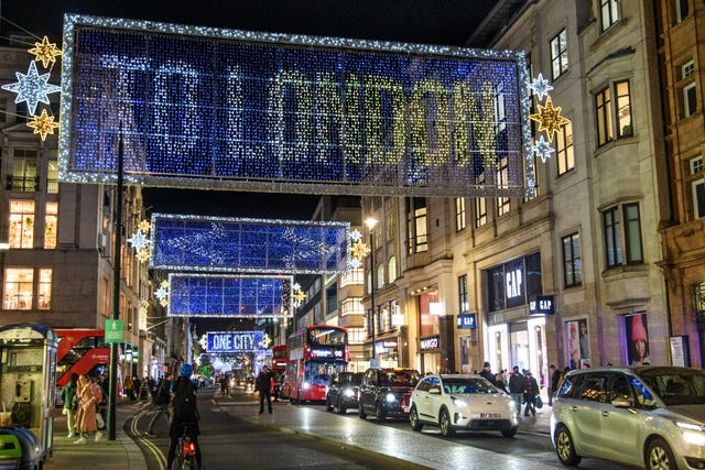Oxford Street's Christmas lights