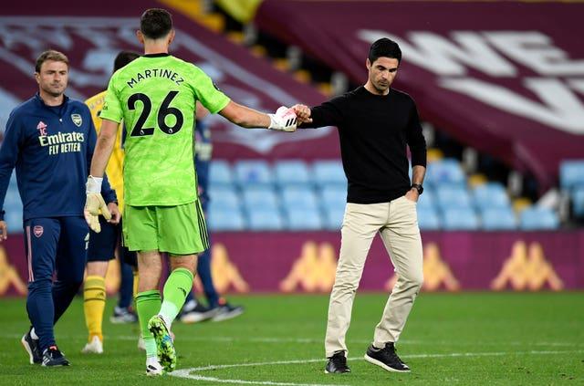 Arteta saw his side lose at Aston Villa last time out.