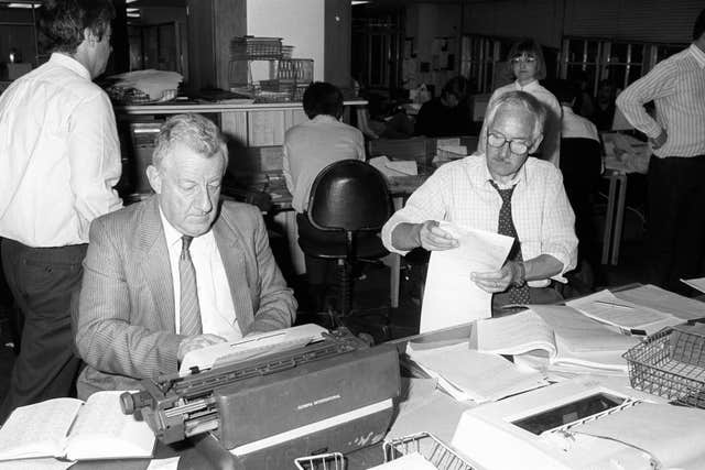 Moncrieff worked in the PA Fleet Street office with Associate Editor Reg Evans on Election Night