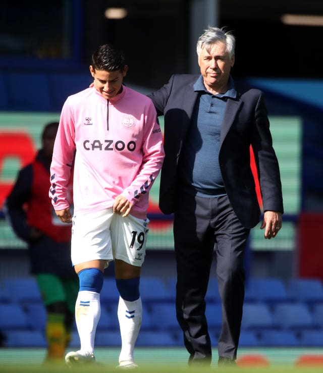 James Rodriguez (left) has worked with Carlo Ancelotti at Real Madrid and Bayern Munich
