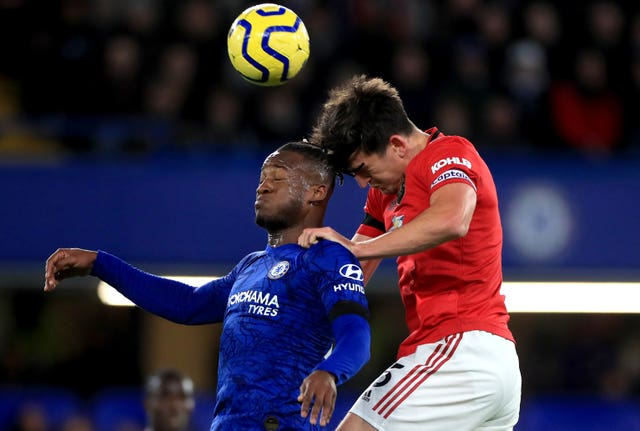 Harry Maguire, right, and Michy Batshuayi