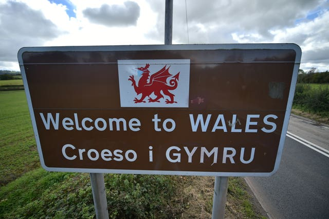A welcome to Wales sign near Llangua in Monmouthshire, south-east Wales (Ben Birchall/PA)