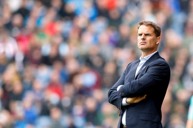 Frank de Boer endured a brief and miserable Premier League reign