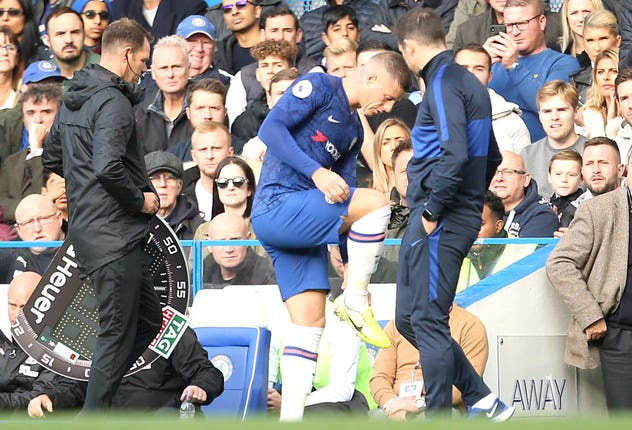 Ross Barkley was forced off through injury
