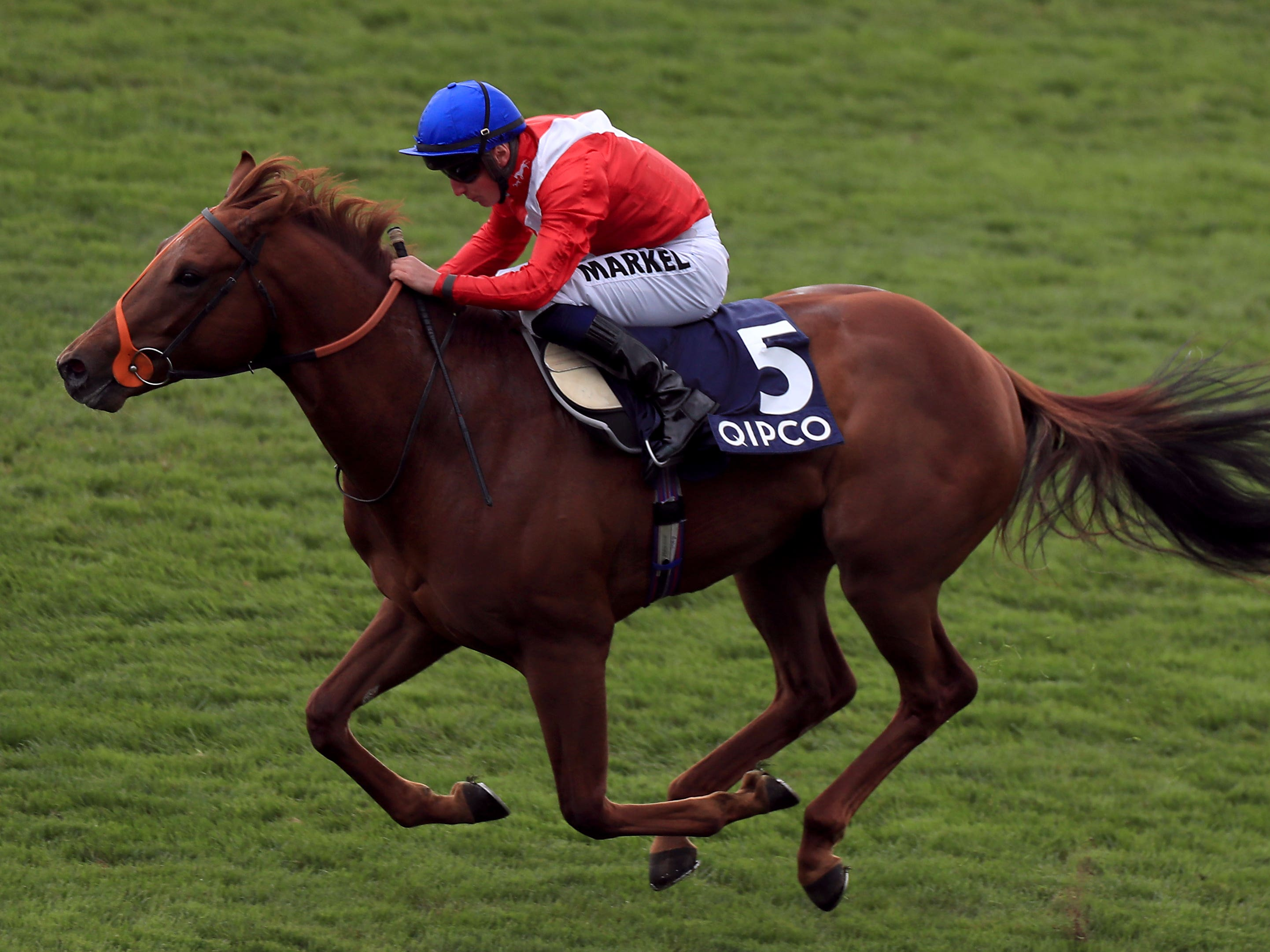 Threat on his way to winning at Newmarket (Mike Egerton/PA)