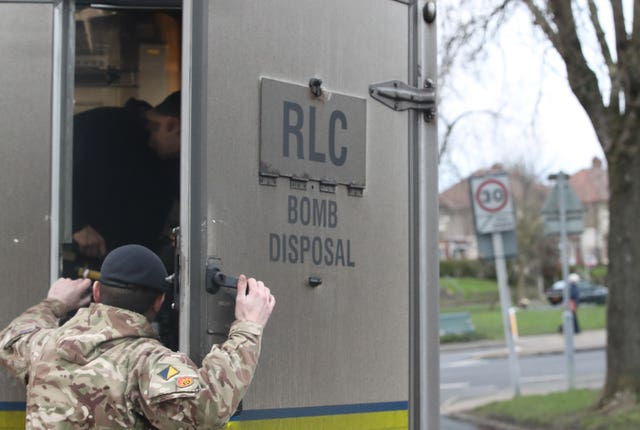 A bomb disposal team was called in to help with the incident