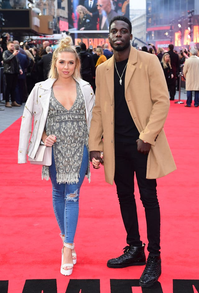 Love Island couple Gabby Allen and Marcel Somerville (Ian West/PA)