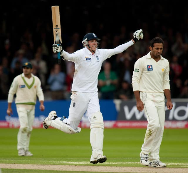 In 2010 against Pakistan, Broad hit his highest Test score of 169