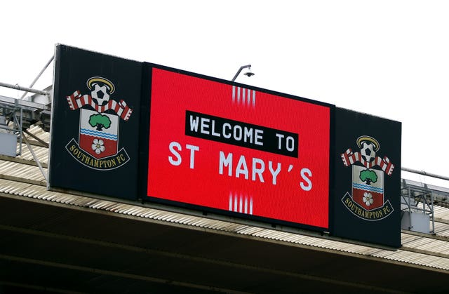 The big screen displays a 'Welcome to St Mary's' message