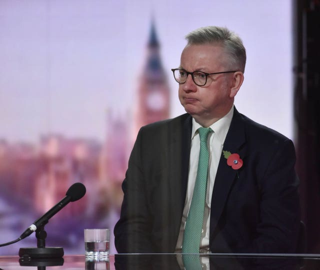Michael Gove says the new lockdown measures could be extended beyond the start of December