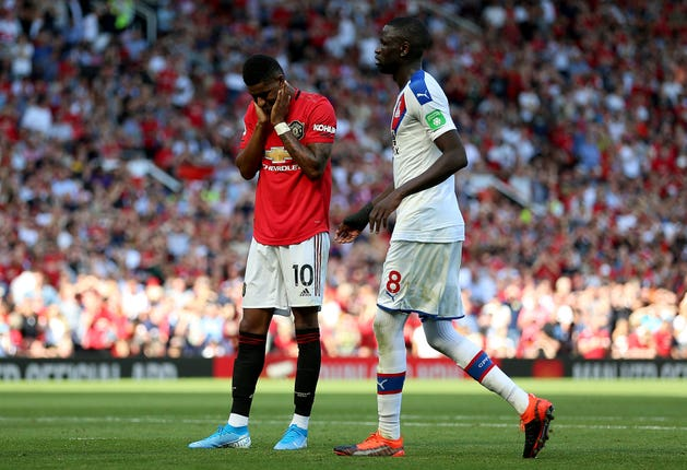 Rashford suffered racist absue online after missing a penalty against Crystal Palace