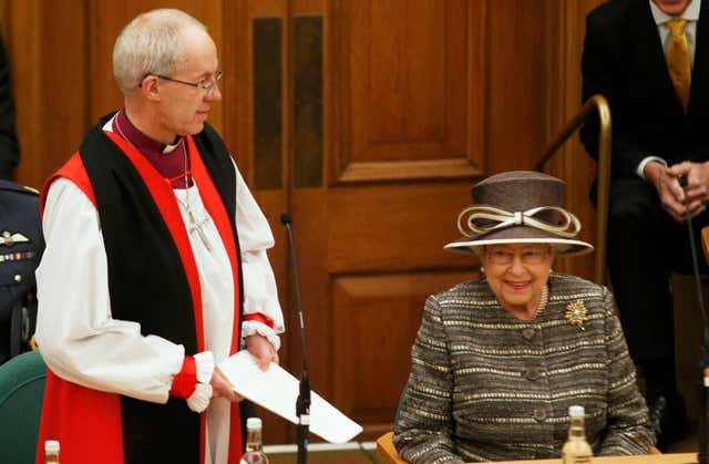 The Queen and the Archbishop of Canterbury