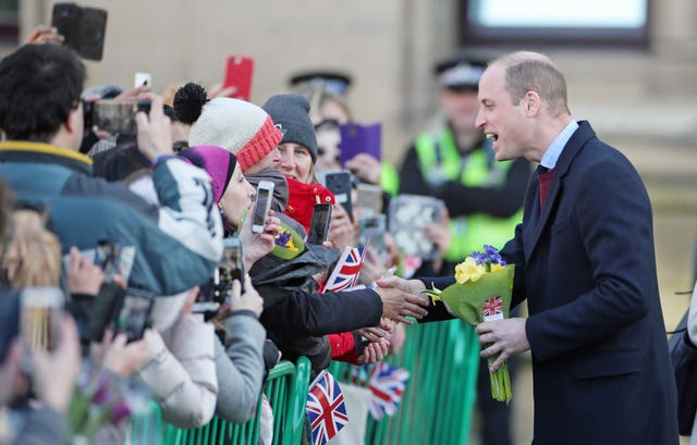 William and Kate met with locals from the community during their first visit (Danny Lawson/PA)