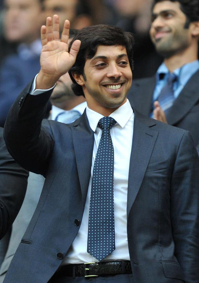 Manchester City owner Sheikh Mansour