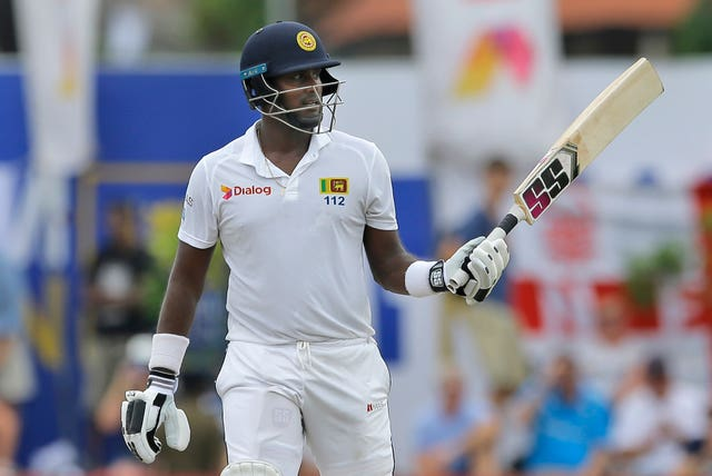 Angelo Mathews made his second half-century of the match