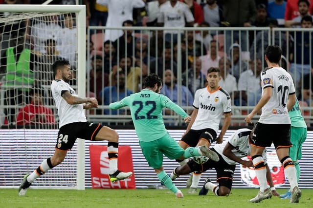 Isco scores Real Madrid's second of the evening with a fine finish