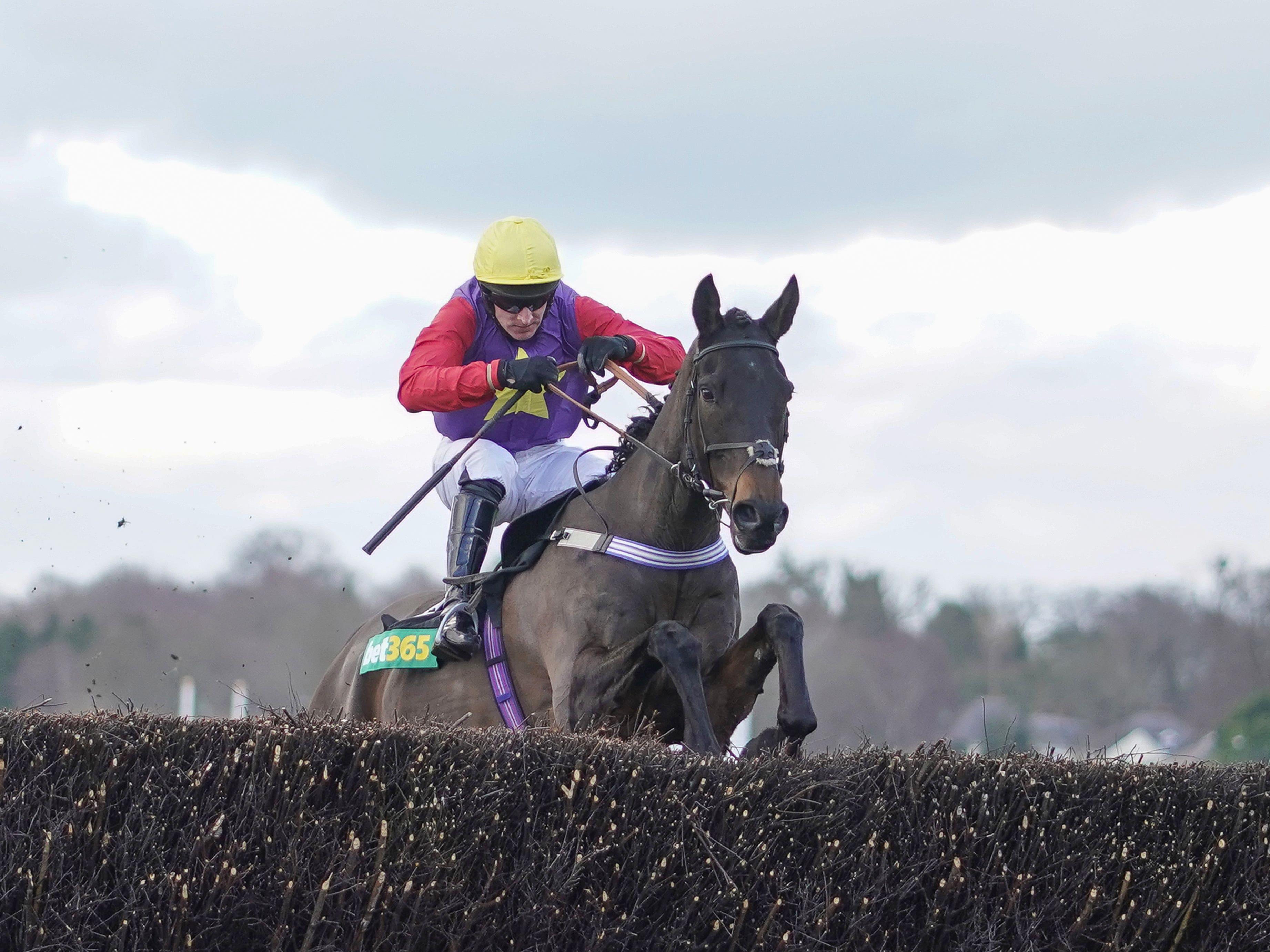 Matt Griffiths and Dashel Dasher clear the last (Alan Crowhurst/PA)