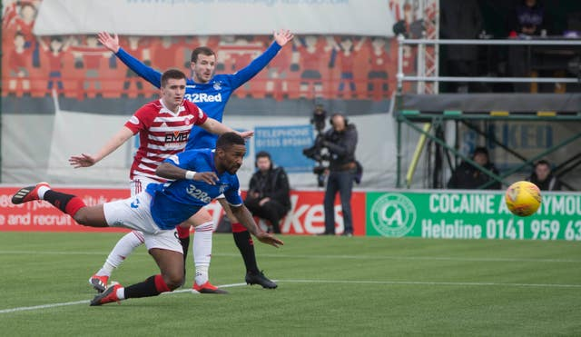 Jermain Defoe scores in Rangers' win against Hamilton