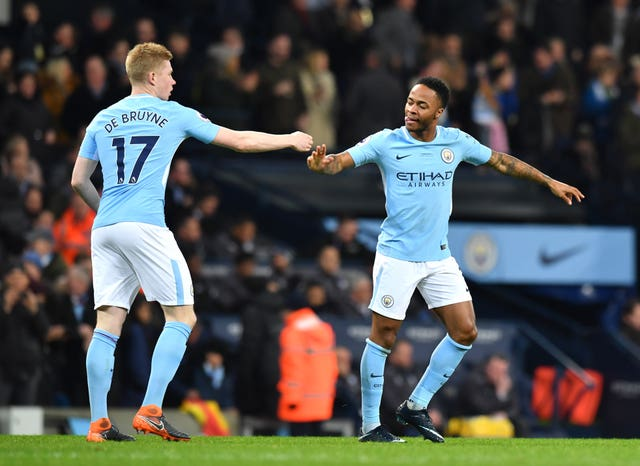 There had been speculation over the future of key players such as Kevin De Bruyne (left) and Raheem Sterling