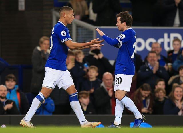 Bernard (right) believes team-mate Richarlison still has plenty of improvement to make