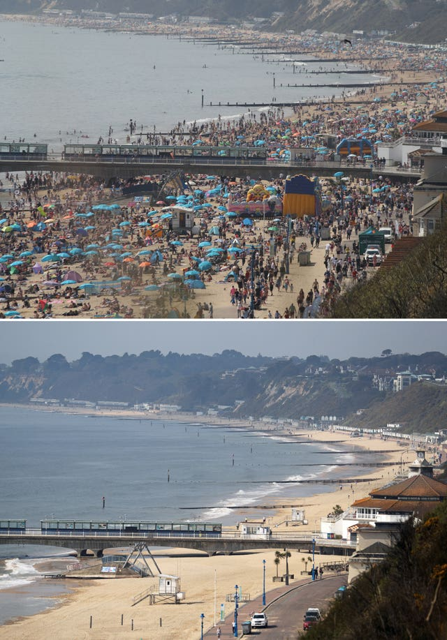 Scenes from Bournemouth beach