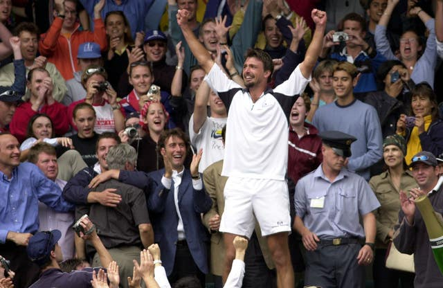 Goran Ivanisevic won the men's singles at Wimbledon in 2001 (Tom Hevezi/PA)