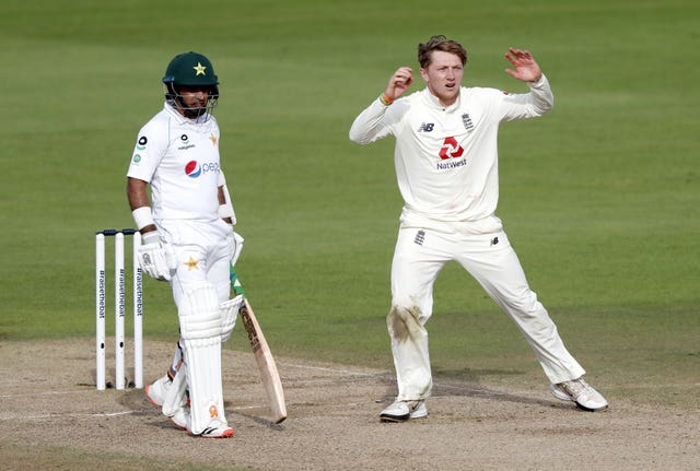 Dom Bess (right) was unable to put Pakistan under any real pressure