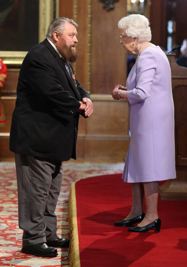 Brian Blessed and Queen Elizabeth