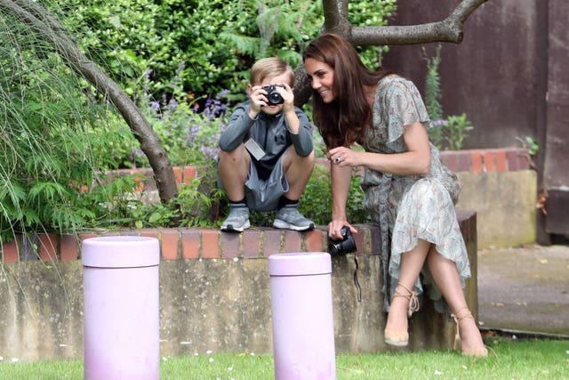 Duchess of Cambridge visits photography workshop