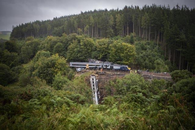 Train accident scene