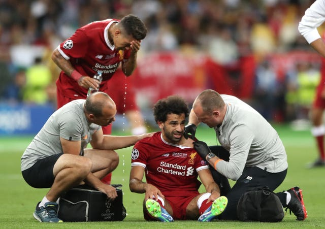 Mohamed Salah was injured early in teh Champions League final defeat to Real Madrid