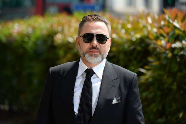 David Walliams arrives for the funeral (Kirsty O'Connor/PA)