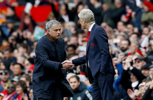 The relationship between Wenger and Mourinho also thawed in later years.