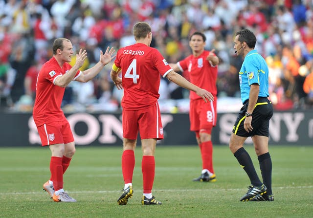 Could things have been different for Lampard and England had the midfielder's goal against Germany at the 2010 World Cup not been incorrectly ruled out? (Martin Rickett/PA)